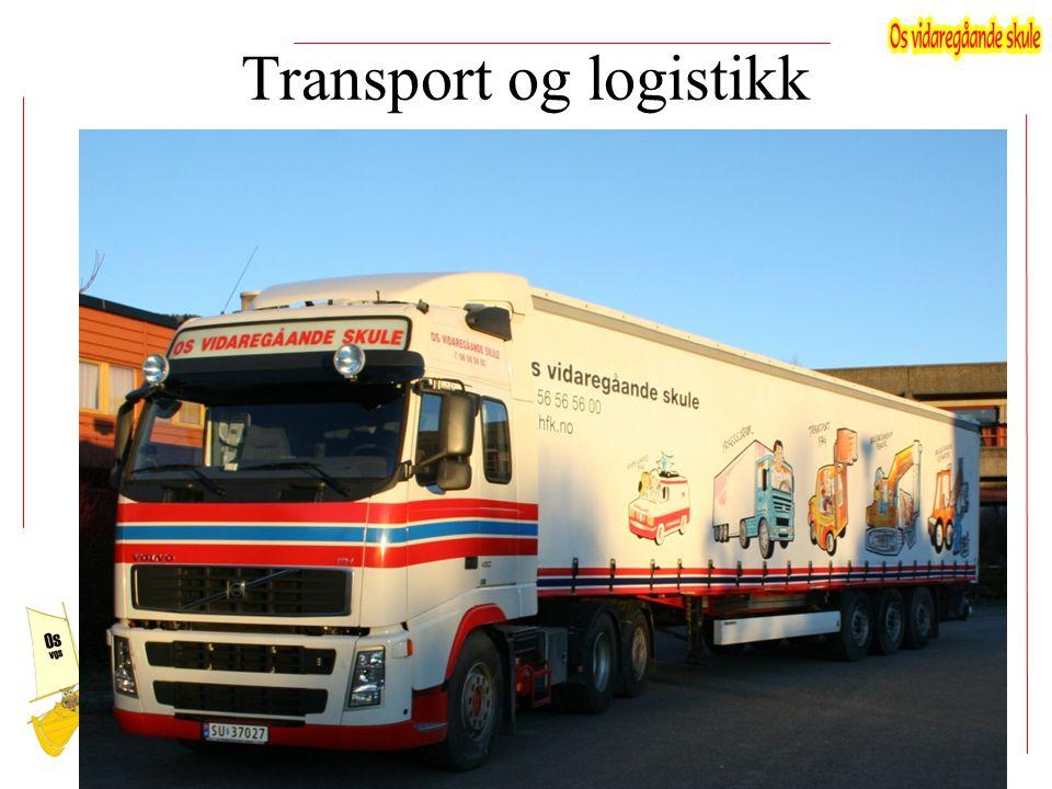 Fag i transport og logistikk vg2 Uketime Bransjeteknikk5 Transport og logistikk12 Fordypning 9 Allmennfag 6+3 9