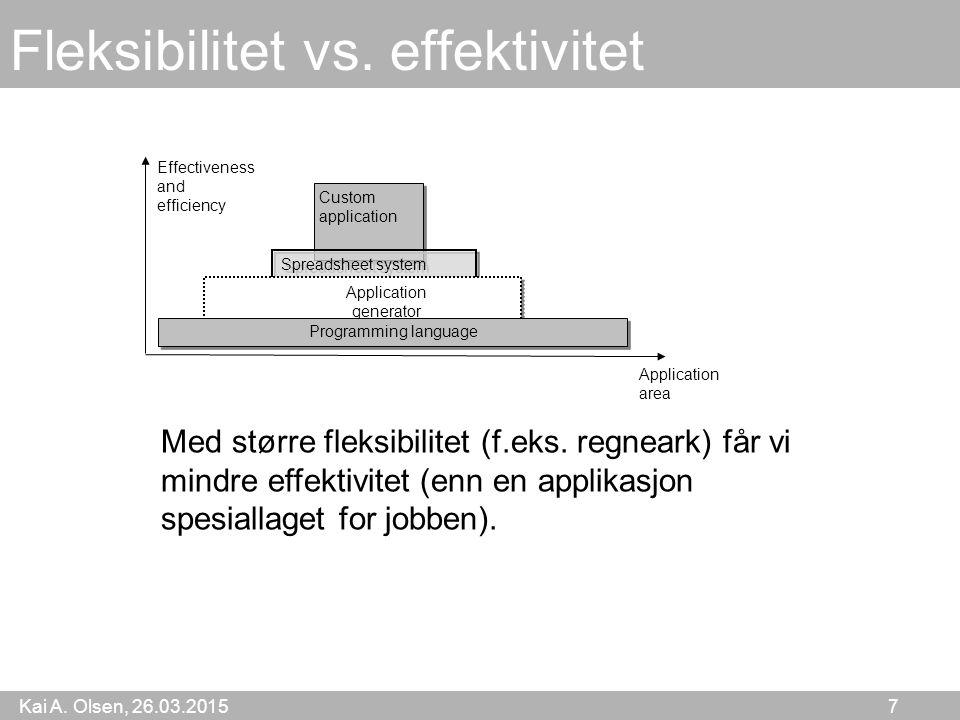 Kai A. Olsen, 26.03.2015 7 Fleksibilitet vs.