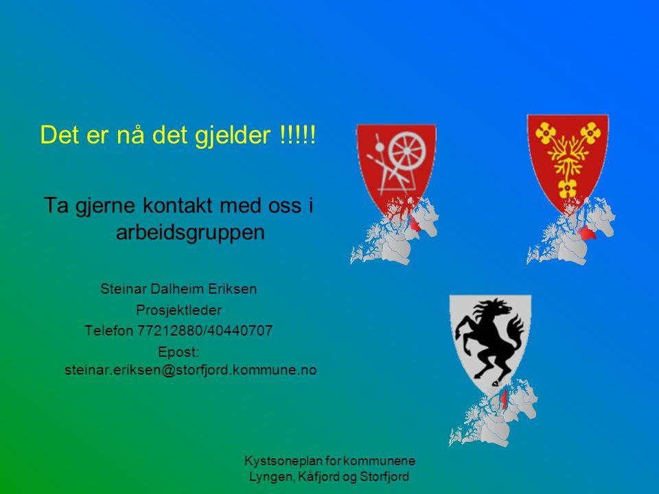 Det er nå det gjelder !!!!! Ta gjerne kontakt med oss i arbeidsgruppen Steinar Dalheim Eriksen Prosjektleder Telefon 77212880/40440707 Epost: steinar.