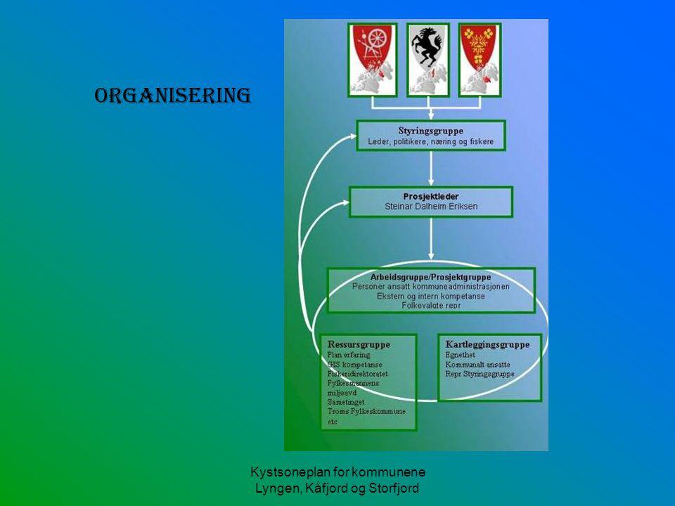 Kystsoneplan for kommunene Lyngen, Kåfjord og Storfjord Arealdel kommuneplan/kystsoneplan (jf Pbl § 20-4 1.ledd) 1.Byggeområder 2.Landbruks-, natur- og friluftsområder (LNF-områder) 3.Områder råstoffutvinning 4.Andre båndlagte områder el.