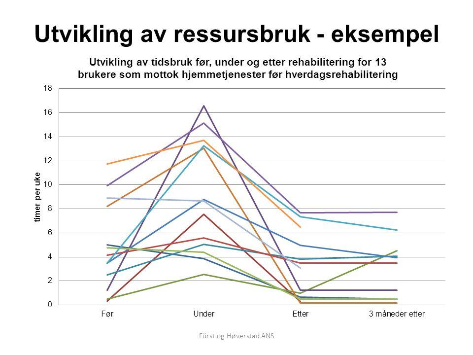 Fürst og Høverstad ANS Utvikling av ressursbruk - eksempel