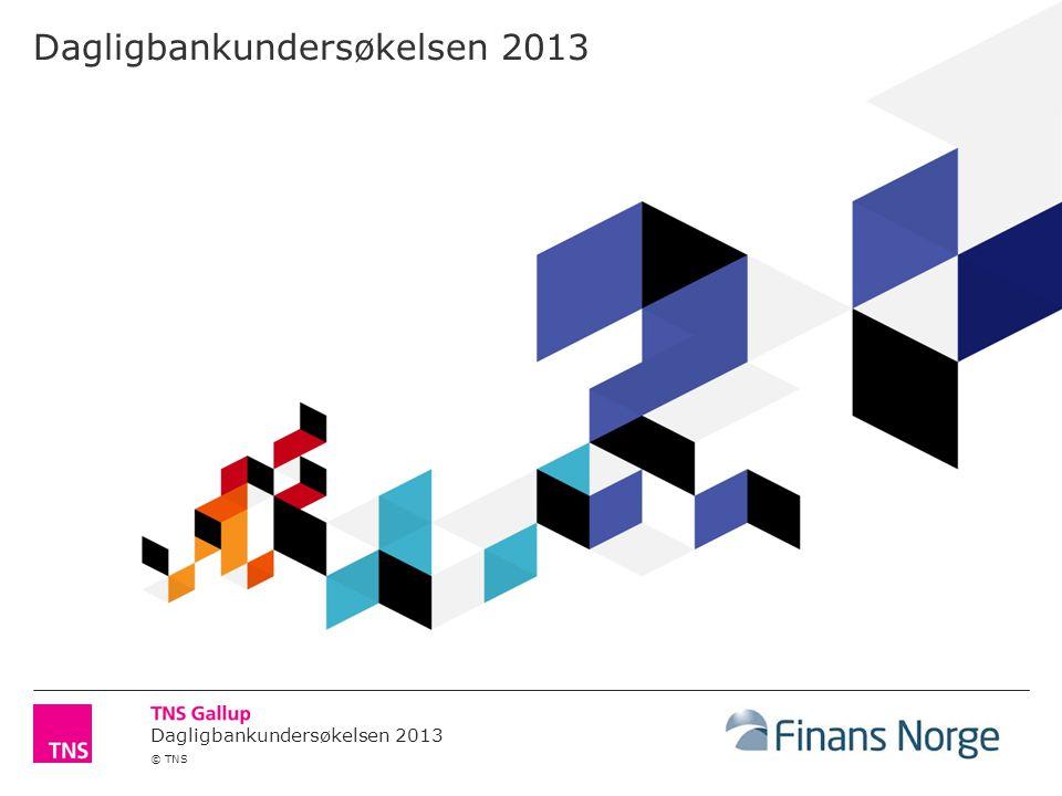 Dagligbankundersøkelsen 2013 © TNS Dagligbankundersøkelsen 2013