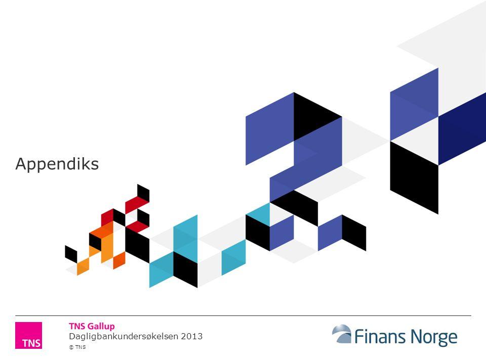 Dagligbankundersøkelsen 2013 © TNS Appendiks