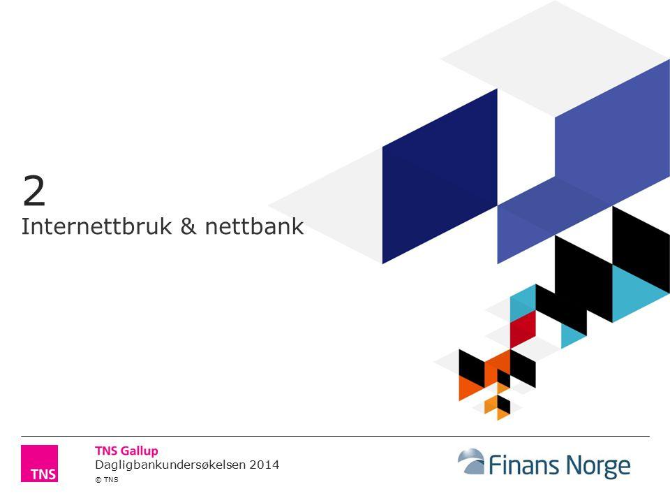 Dagligbankundersøkelsen 2014 © TNS Andel som bruker Internett og tjenester på Internett 8 Prosent av befolkningen 15 år +