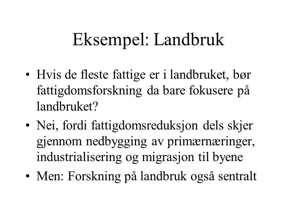 Hva kan eller bør gjøres i Norge.