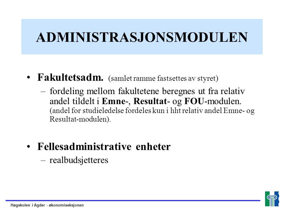 ADMINISTRASJONSMODULEN Fakultetsadm.