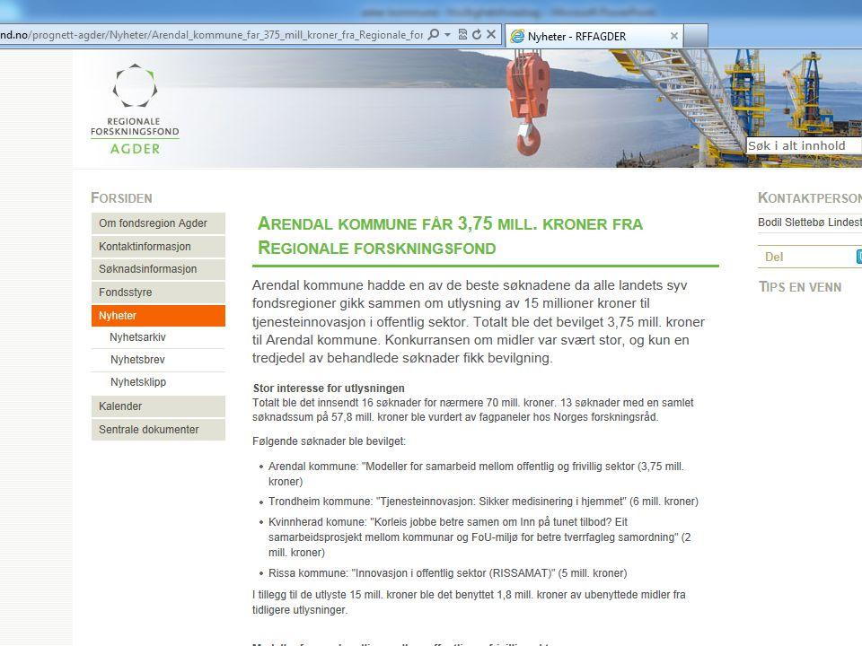 Med hjerte for Arendal helt til topps i nasjonale forskningsmidler