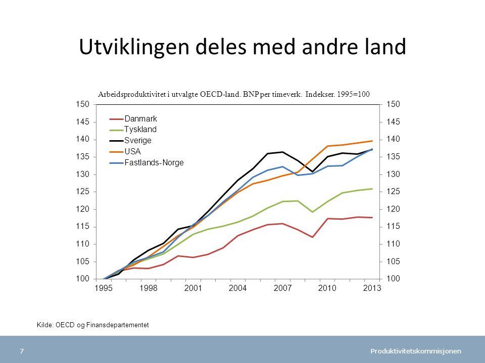 Produktivitetskommisjonen 38 Fra 1 mrd. til 12,7 mrd. kroner Foto: St. Olav Hospital