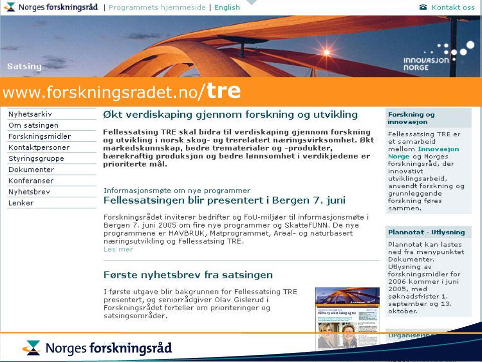 www.forskningsradet.no / tre