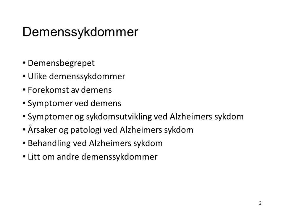 Demenssykdommer Undervisning UiS 28.10.11 Målsetting: Gi grunnleggende kunnskaper om demenssykdommer fordi: 1.Kunnskap gir trygghet, det blir lettere