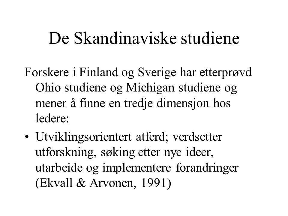 De Skandinaviske studiene Forskere i Finland og Sverige har etterprøvd Ohio studiene og Michigan studiene og mener å finne en tredje dimensjon hos led