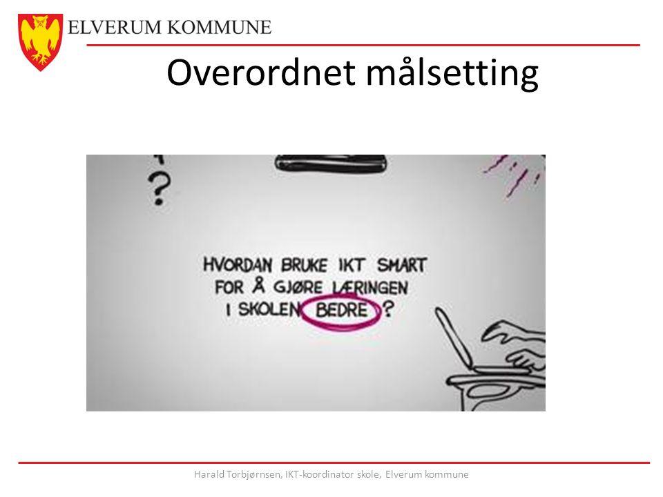 Overordnet målsetting Harald Torbjørnsen, IKT-koordinator skole, Elverum kommune