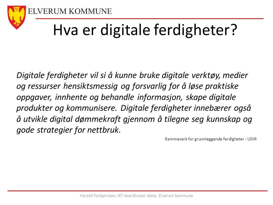 Hva er digitale ferdigheter.