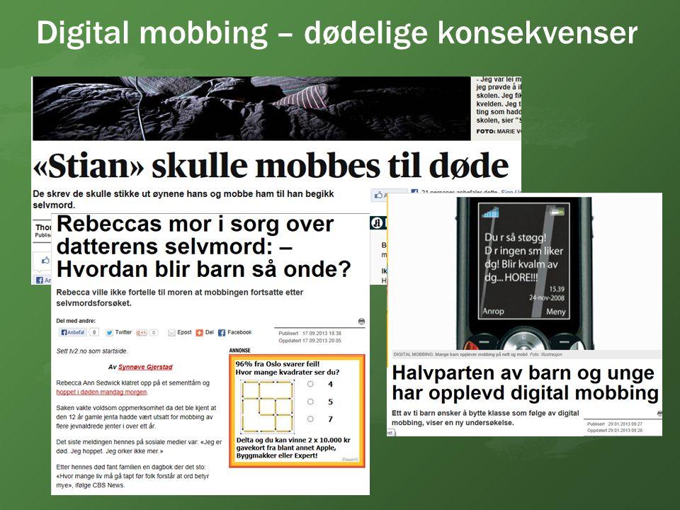 Digital mobbing – dødelige konsekvenser