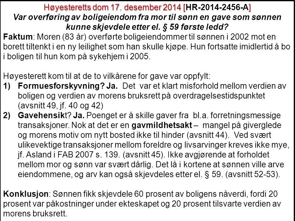 177 Høyesteretts dom 17.desember 2014 [] Høyesteretts dom 17.