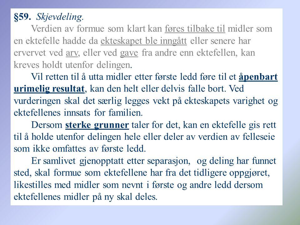 §59.Skjevdeling.
