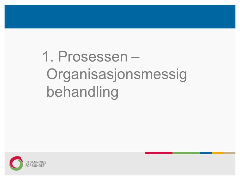 1. Prosessen – Organisasjonsmessig behandling