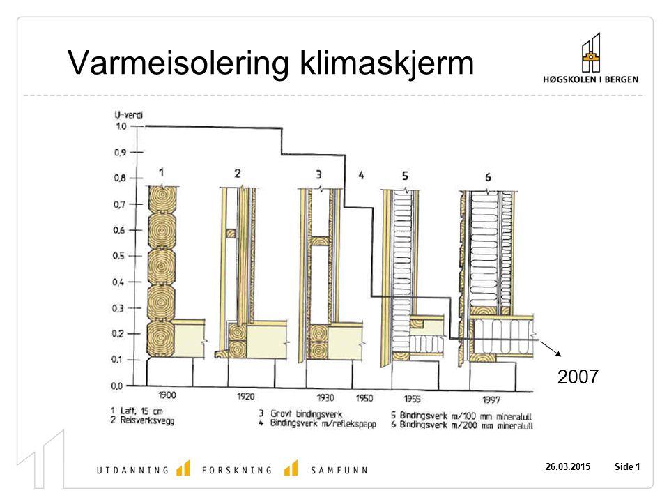 26.03.2015 Side 1 Varmeisolering klimaskjerm 2007