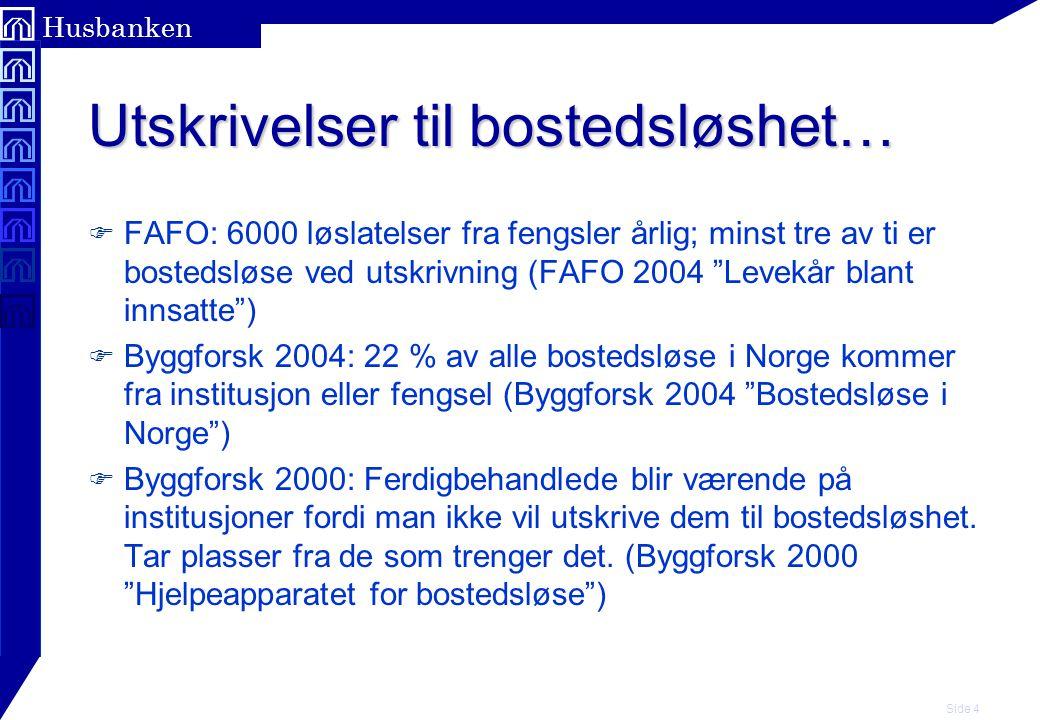 Side 5 Husbanken Utfordringer for Husbanken.F Videreutvikling som resurssenter.