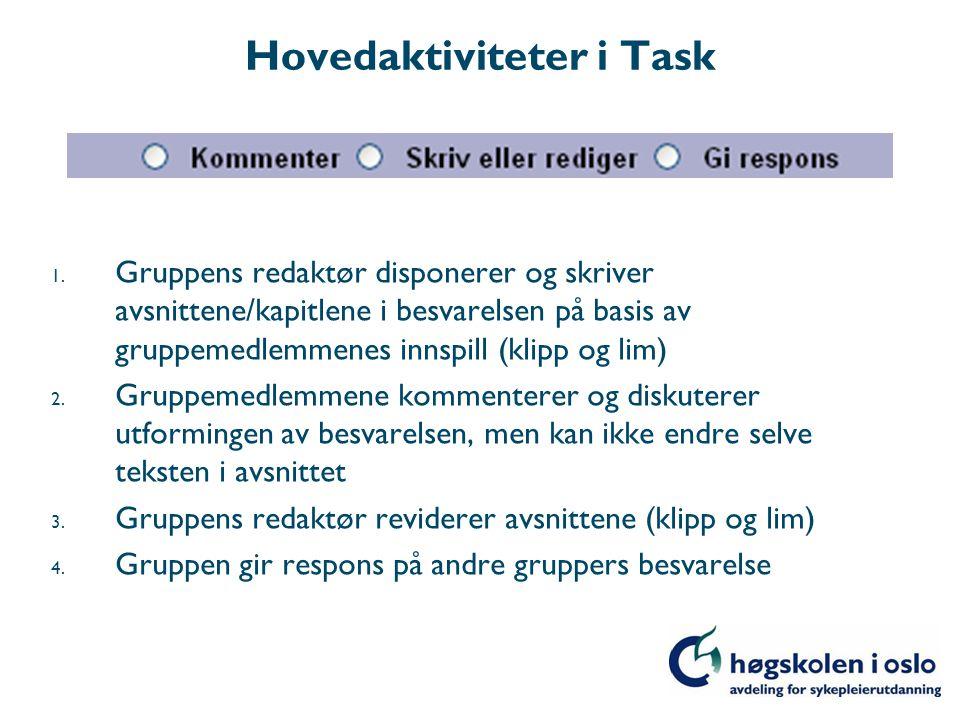 Les oppgaveteksten (studiekravet)