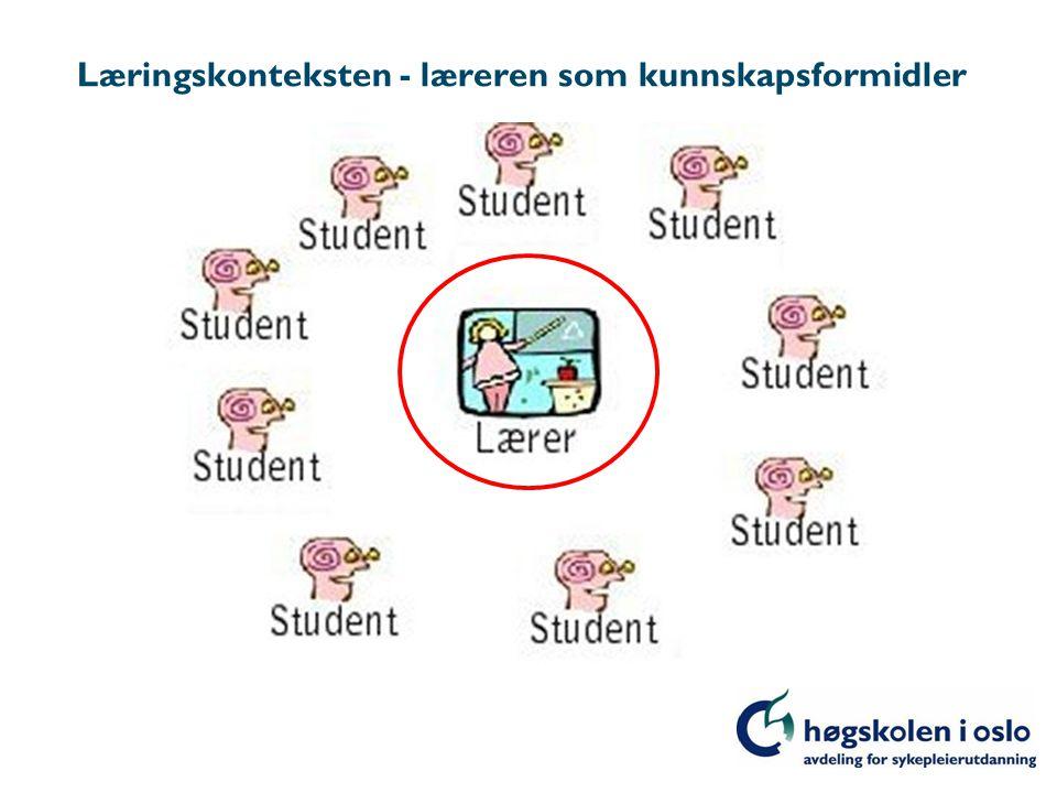 Læringskonteksten - læreren som kunnskapsformidler