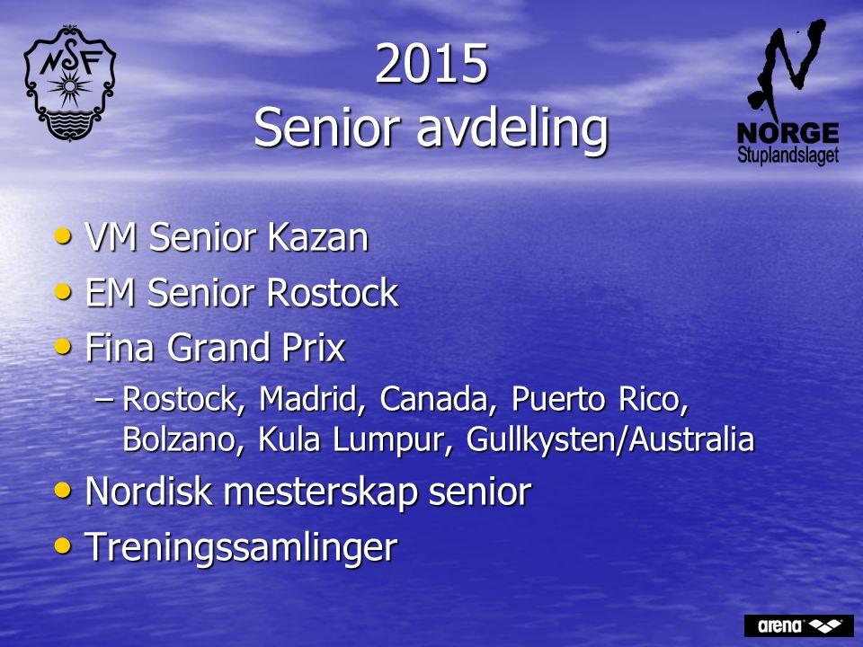 2015 Senior avdeling VM Senior Kazan VM Senior Kazan EM Senior Rostock EM Senior Rostock Fina Grand Prix Fina Grand Prix –Rostock, Madrid, Canada, Pue