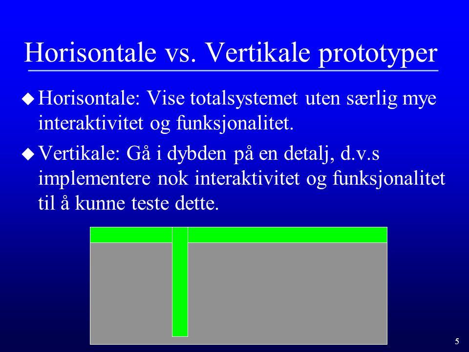 5 Horisontale vs.