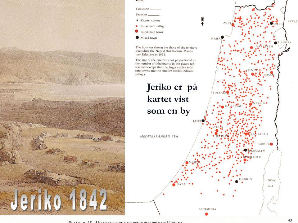 Jeriko er på kartet vist som en by