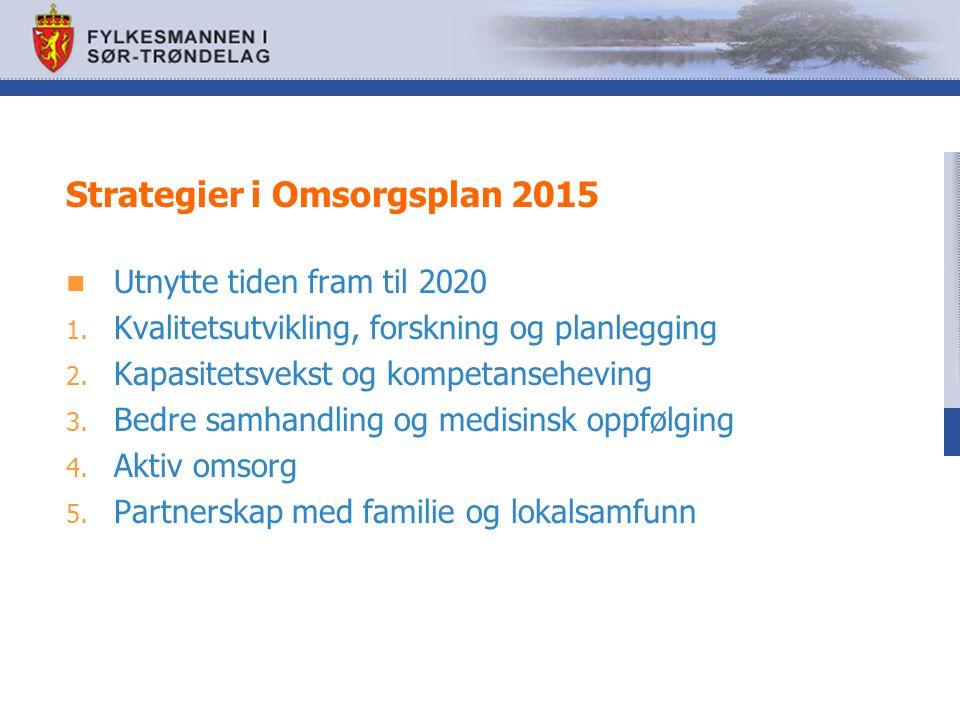 Strategier i Omsorgsplan 2015 Utnytte tiden fram til 2020 1.