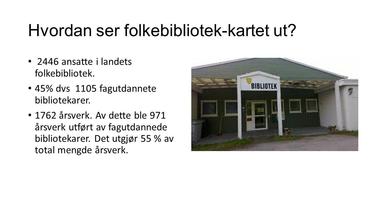 312 av landets 428 kommuner har fagutdannet biblioteksjef, dvs 73 % av kommunene.