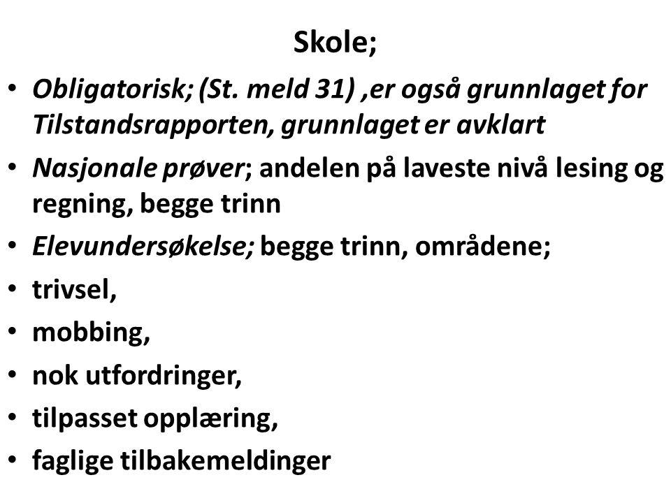 Skole; Obligatorisk; (St.