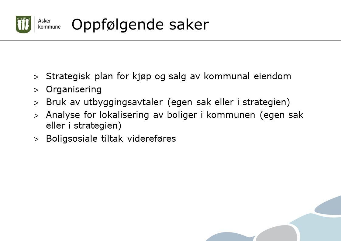Oppfølgende saker > Strategisk plan for kjøp og salg av kommunal eiendom > Organisering > Bruk av utbyggingsavtaler (egen sak eller i strategien) > An
