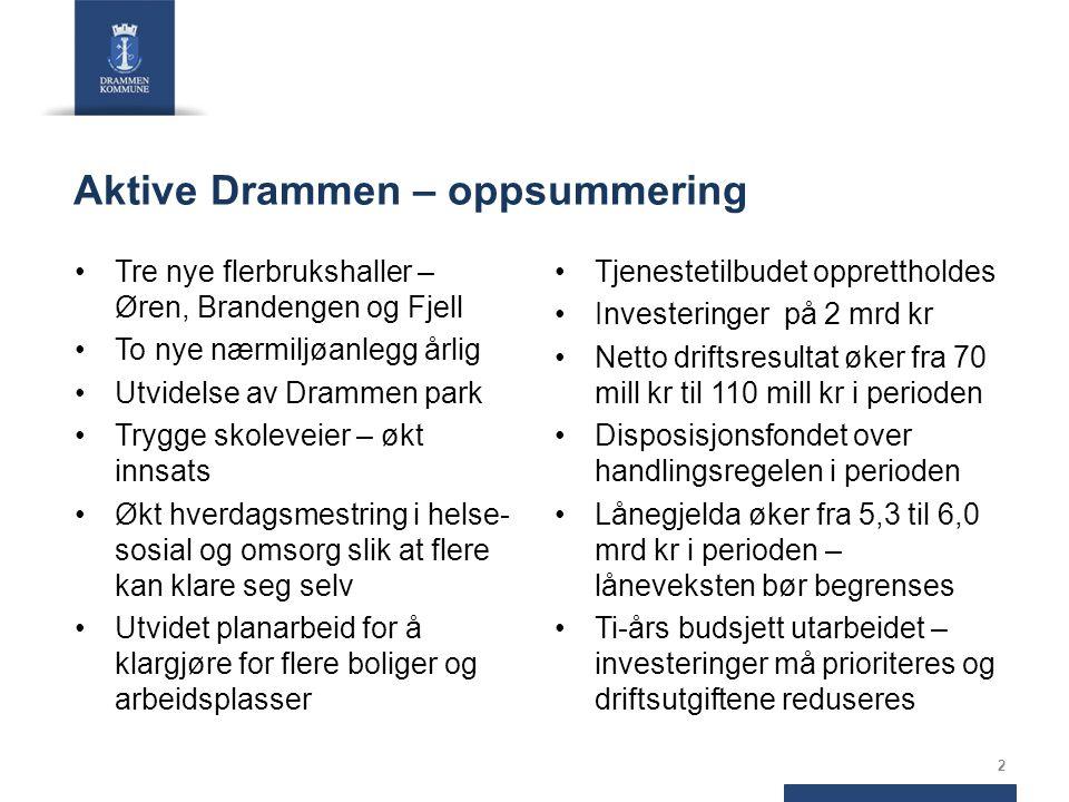 Hovedstørrelser i driftsbudsjettet 2015 - 2018 3