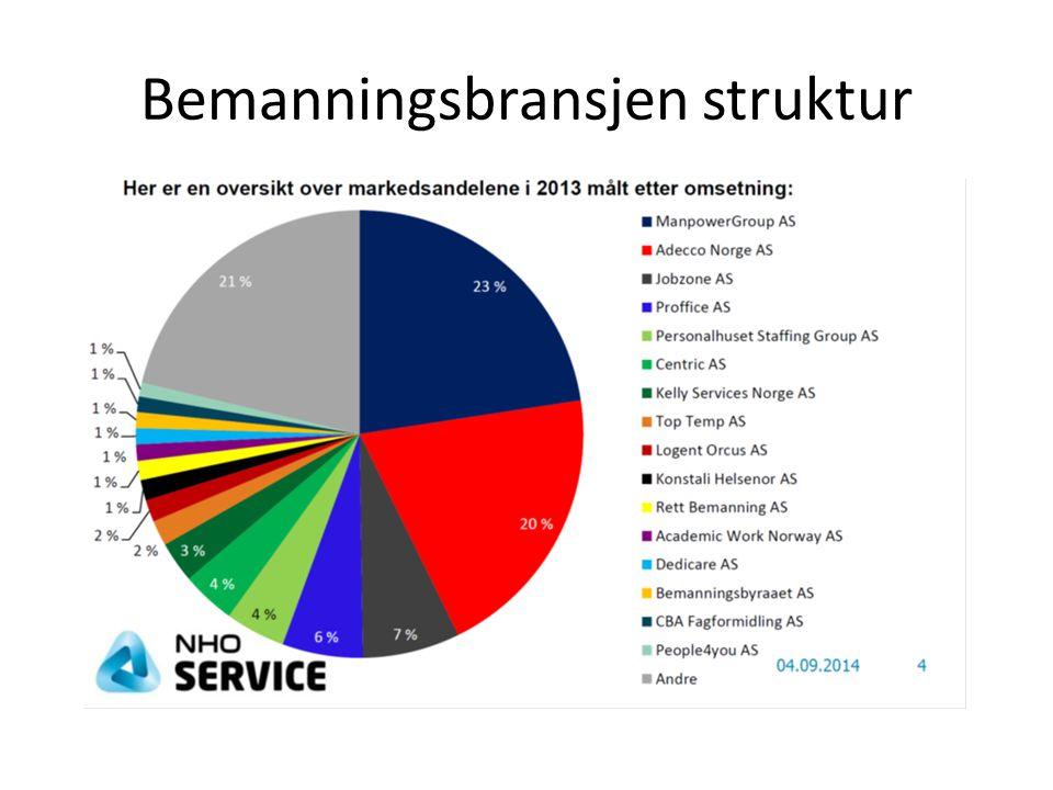 Bemanningsbransjen struktur