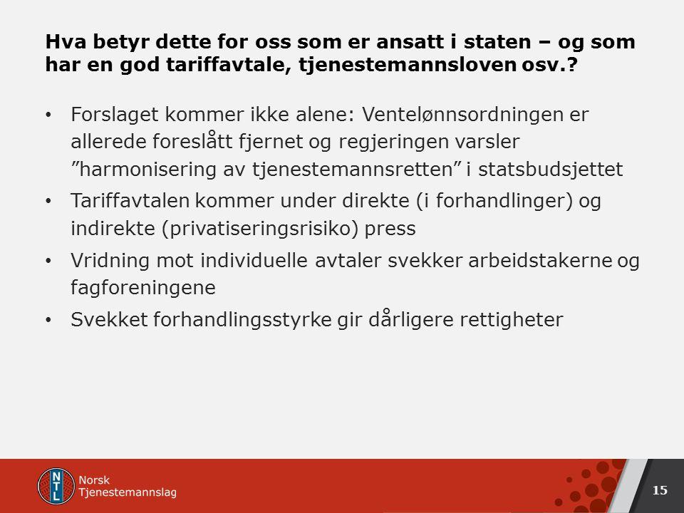 16 Til NTB 10.12.14: – Jeg skjønner at dere ikke liker endringene, men vi lever altså i et demokrati, fastslår Solberg.