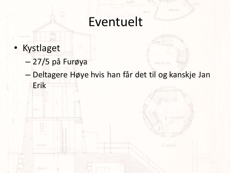Eventuelt Kystlaget – 27/5 på Furøya – Deltagere Høye hvis han får det til og kanskje Jan Erik