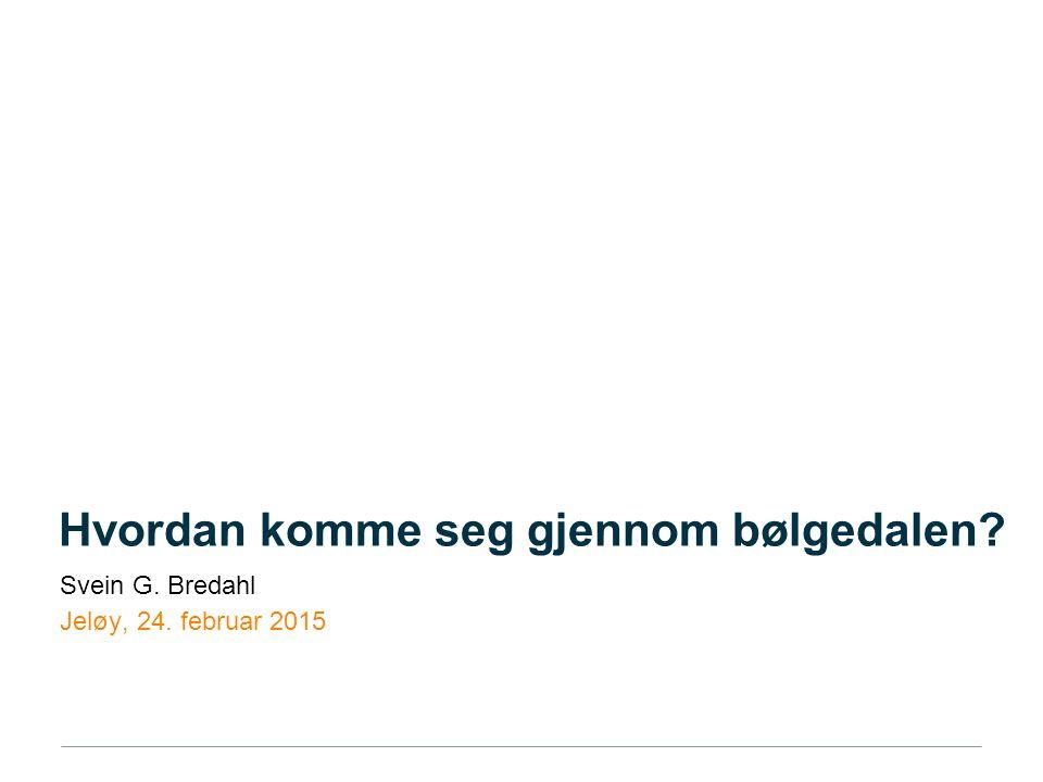 Hvordan komme seg gjennom bølgedalen Svein G. Bredahl Jeløy, 24. februar 2015