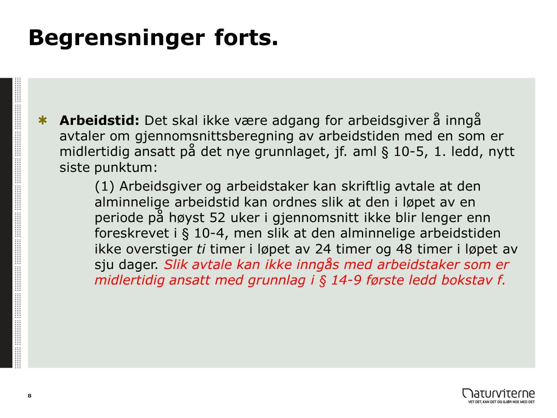 Søn- og helgedagsarbeid Aml 10-10, 2.