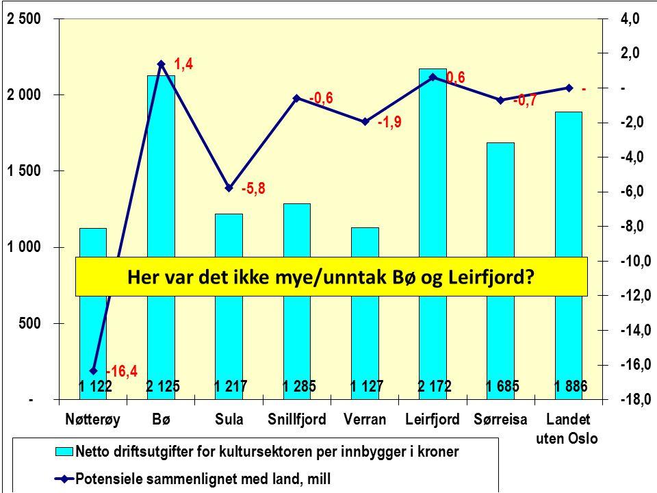 Her var det ikke mye/unntak Bø og Leirfjord?