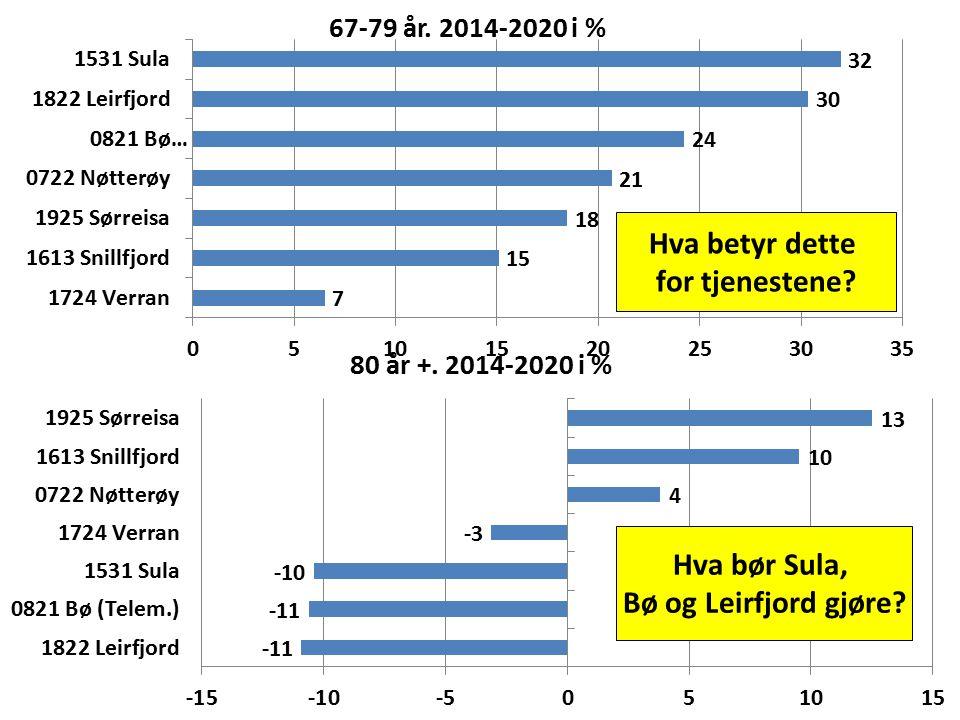 Hva betyr dette for tjenestene? Hva bør Sula, Bø og Leirfjord gjøre?