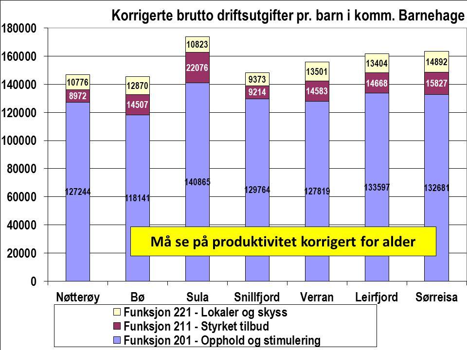 Må se på produktivitet korrigert for alder