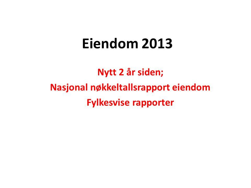 Eiendom 2013 Nytt 2 år siden; Nasjonal nøkkeltallsrapport eiendom Fylkesvise rapporter