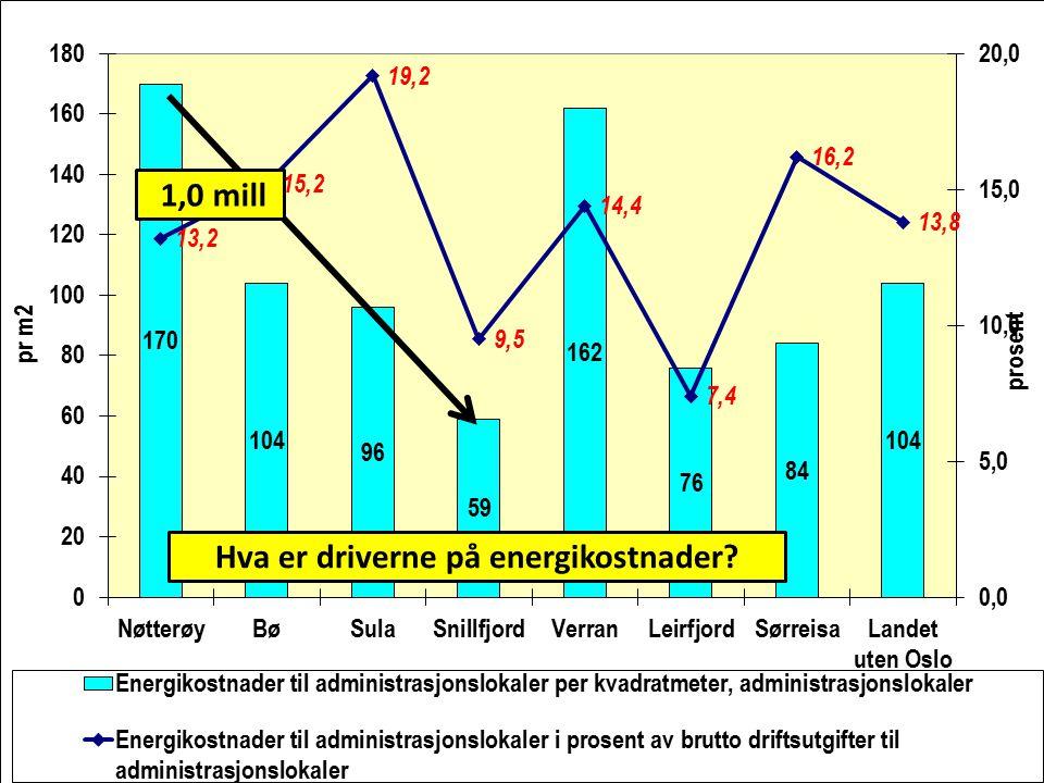 Hva er driverne på energikostnader? 1,0 mill