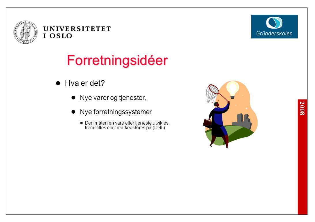 2008 Forretningsidéer Hva er det.