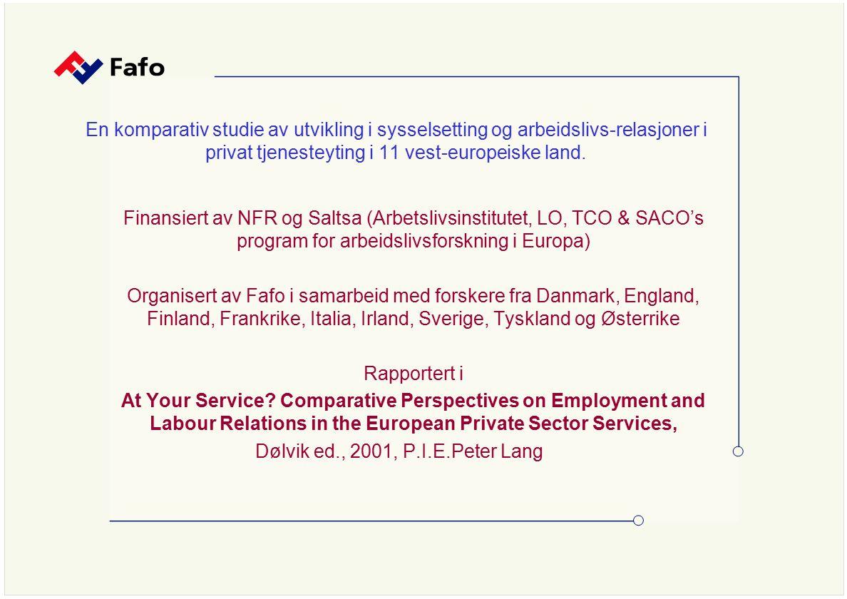 Andel fagorganiserte etter hovedorganisasjon 1945-1999 Prosent av alle sysselsatte lønnstakere ( Kilde: Stokke 2001) LO & privat sektor minker – økt oppsplitting og konkurranse