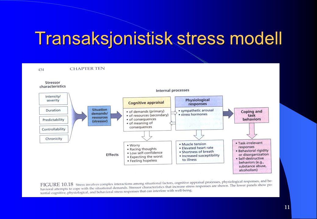11 Transaksjonistisk stress modell