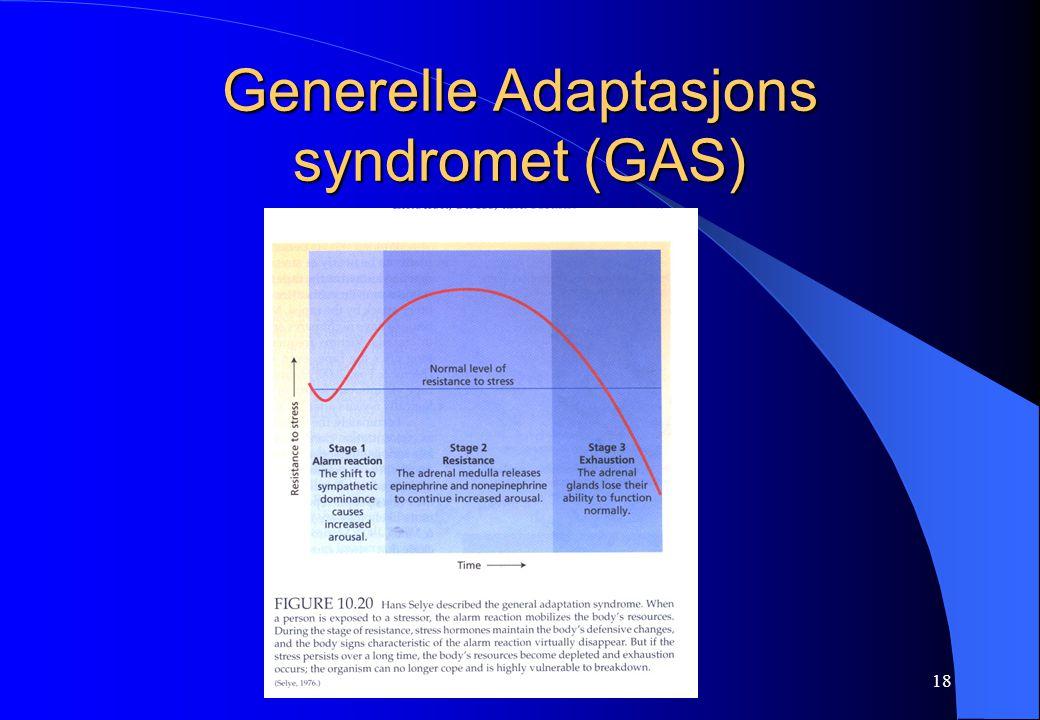 18 Generelle Adaptasjons syndromet (GAS)