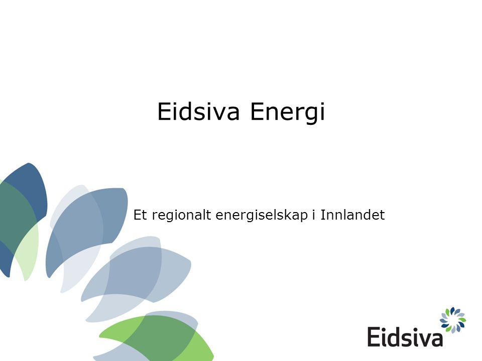 Eidsiva Energi Et regionalt energiselskap i Innlandet