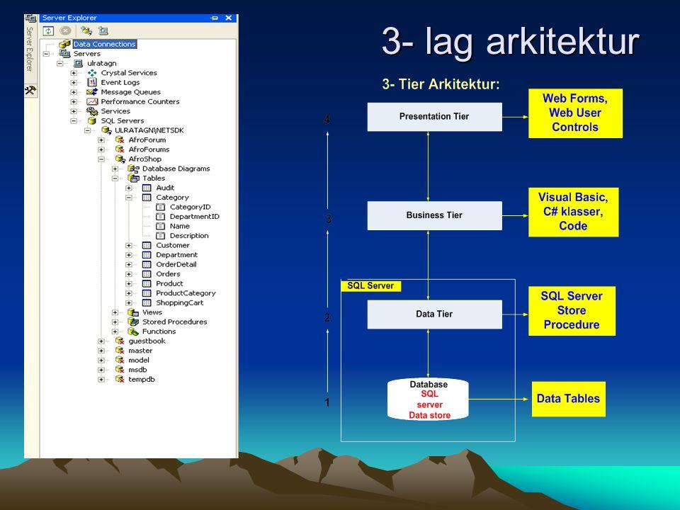 3- lag arkitektur 3- lag arkitektur