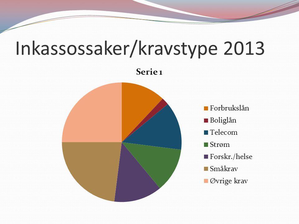 Inkassossaker/kravstype 2013